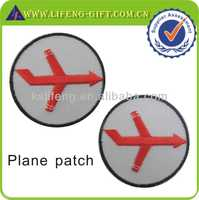 polo patch embroidery design custom plane patch