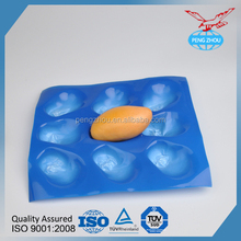 PVC fruit tray eco - friendly design disposable food tray with lid