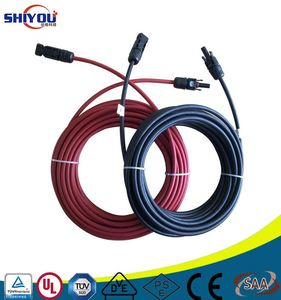 XLPE Single Twin Core Solar battery Pannel System Cable TUV 2pfg Pvf1-F 1.5mm 2.5mm 4mm 6mm 10mm 16mm 25mm PV Solar cable wire