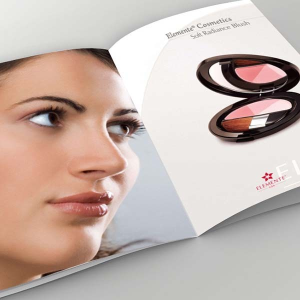 customized cosmetic catalogue/brochure design
