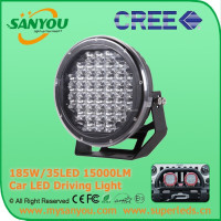 High Quality 185w led driving light 4x4 , 185w 9inch Black round led driving light,185w led work lamp boat