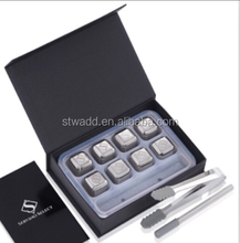STWADD High Quality Stainless ice cube,STWADD Whiskey Stone square shaped Whiskey Stone