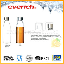 everich 18-8 2016 Newest Design Hot Sales Heat Resistant Borosilicate Glass Milk Water Bottle