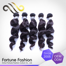 Oem Luxury Quality No Shedding No Tangle Pack Cheap Virgin Orange Human Hair Wavy Weft