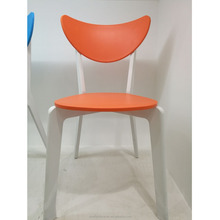 Wholesale modern cheap leisure plastic tulip dining chair outdoor chair with wooden legs