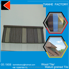 Wood stone chips coated cold-proof zinc coat clay roof tiles for sale