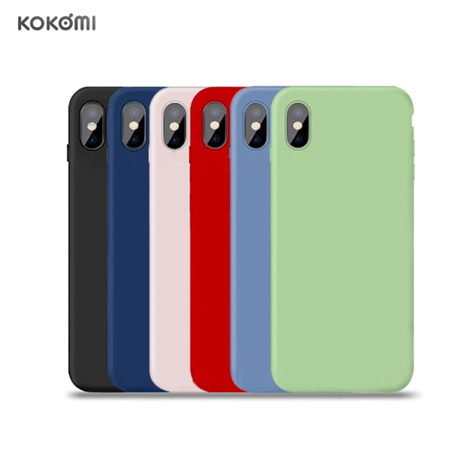 KOKOMI <strong>Microfiber</strong> Soft Touch Cell Phone Silicone Cover Original Liquid Silicone Case For Iphone XS Max XR 8 7 6s 6 plus