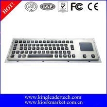 Illuminated industrial touchpad backlit keyboard with PC keycaps