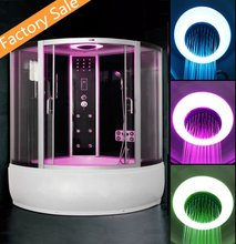 2017 Big Luxury Whirlpool Steam Bath Shower With FM LED light For 2 People LR8017 New