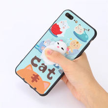 2018 IKF hot selling custom 3d lenticular silicone anime cartoon cat cell phone case for iphone 7