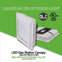 SNC competitive price UL DLC 75w led canopy light led gas station light