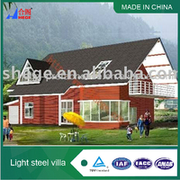 Well designed luxury prefabricated light steel framing prefab house