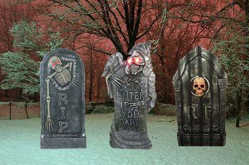 Tombstone Unique Halloween Prop Cemetery Graveyard Haunted - Unique Halloween Props
