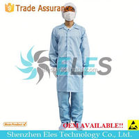white esd cleanroom lab suit