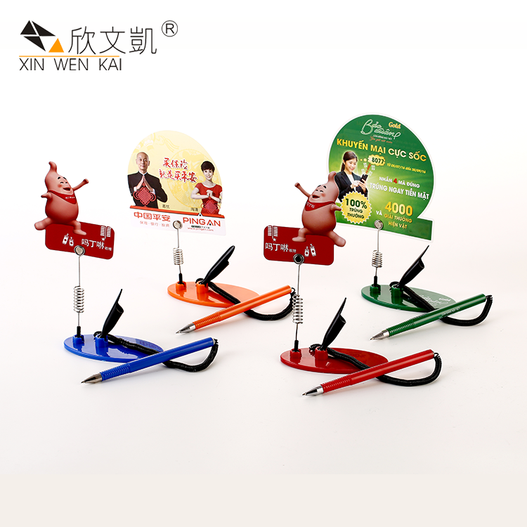 New Innovative Products Promotional Plastic Advertising Card Table Counter Gel Desk Pen