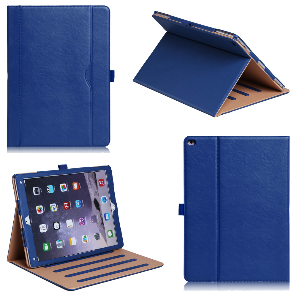 Solid Shockproof Cover With Pocket Customize Logo Flip Tablet Case For iPad Pro12.9 inch