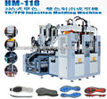 Automatic static PVC/TR injection moulding machine