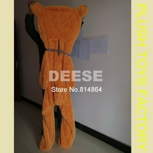 Factory price 160cm Teddy bear skin Giant Luxury Plush Extra Large Teddy Bear cost - Dark Brown - Light Brown