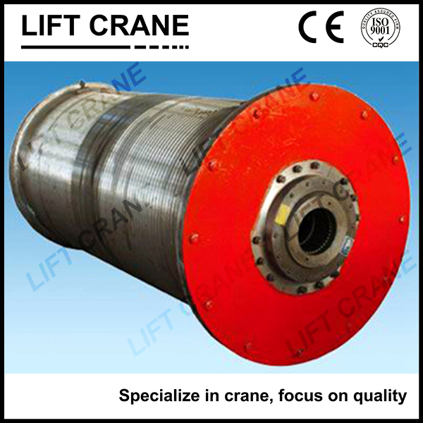 Materrial Handling Machined steel Wire Rope Crane Winding Rotating Drum