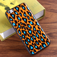 Hot Selling Fashion Leopard Mobile Phone shell Cover IMD Cover Phone Case for iPhone 6 / 7