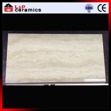 2017 popular travertine style polished finish marble look 60*120 porcelain floor tile