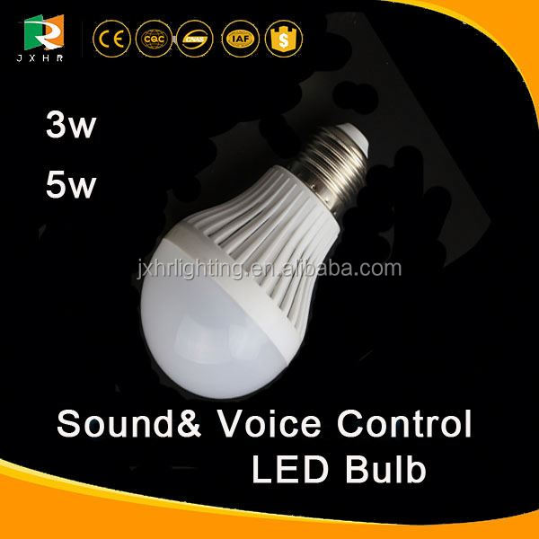 3W 5W motion sensor night light/ Sound Control Activated LED Light Lamp