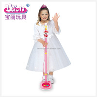 Battery-operated connecting MP3 Phone adjustable plastic recording electric toy microphone for kids 5003