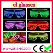 New arrival coloourful light glasses/fluorescence dancing el glasses for unisex