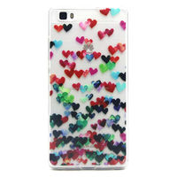 Butterfly tpu cover case for Huawei P8 lite, Transparent tpu cover for Huawei P8 lite