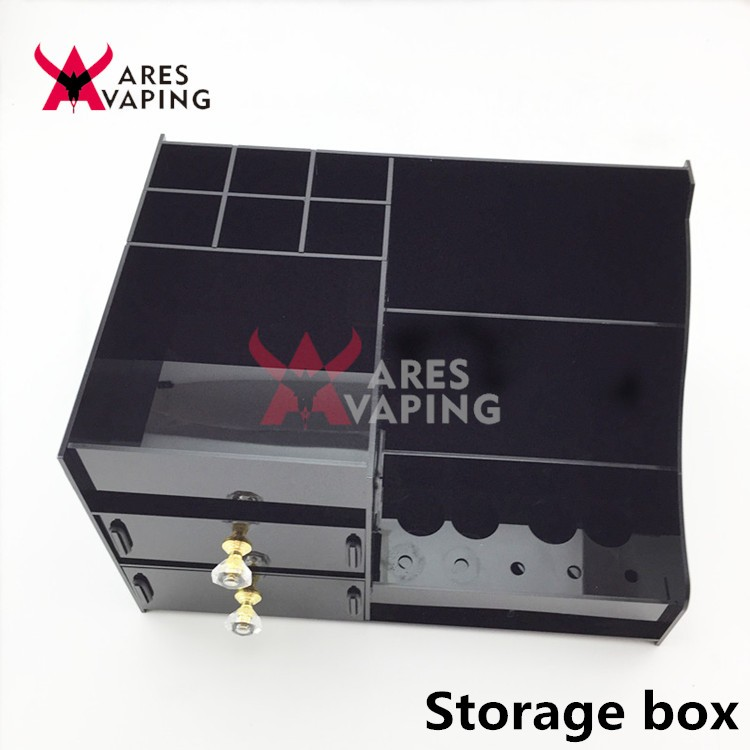 Professional manufacture FOB vape mod storage box ecig display stand