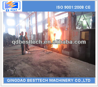 2 ton aluminum shell electric melting furnace