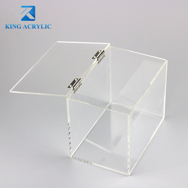 Small Display Box Clear Acrylic Display Case With Stainless Hinges