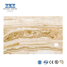mordern faux marble texture wall paneling in interior design