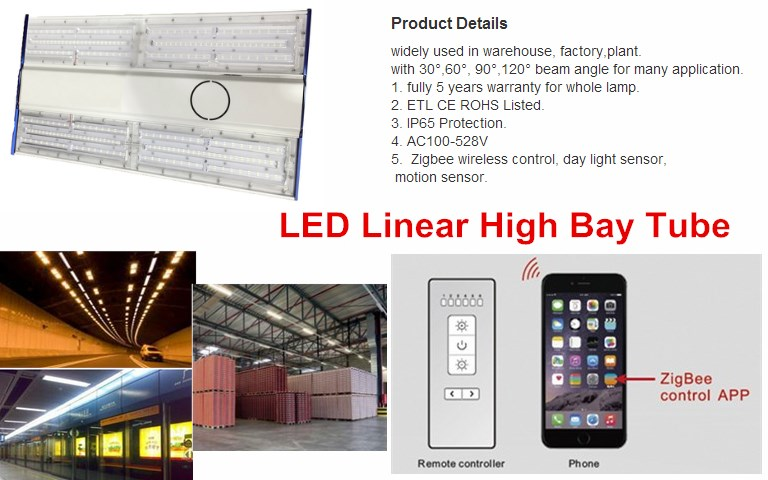 2016 DLC 4.0 cUL led linear high bay 170LM per watt