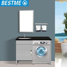 Washing machine cabinet, stainless steel vanity