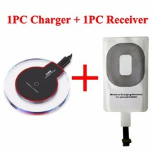 Mini Wireless Charger Pad with Wireless Receiver Charging for iPhone 5 5c 5s 6 6s