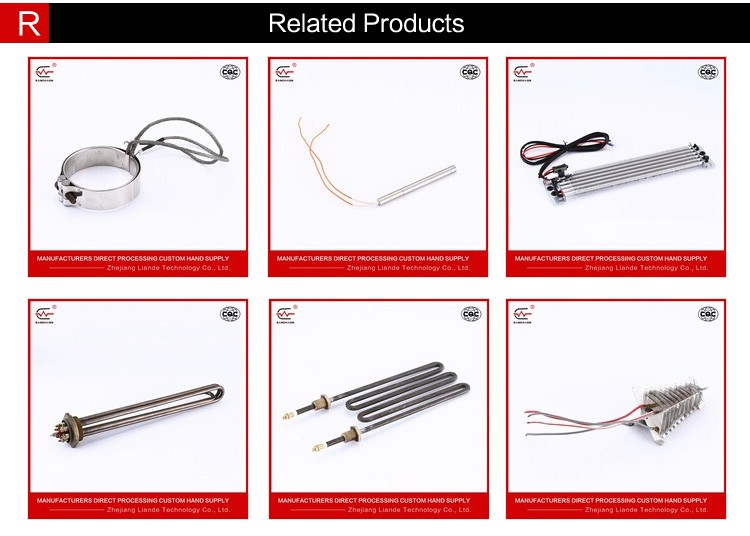 U Shaped electric heating element, finned heating tube element