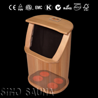 2016 Portable heat infrared foot spa massager(CE/RoSH/ISO)wooden