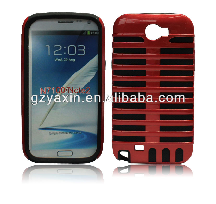 Best cell phone case China factory cellphone hard shell case for samsung galaxy note 2 n7100 case cover