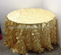 wholesales 118'' round petal table covers, petal table cloth wedding/petal taffeta table cloths