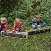 New Style Kids Outdoor Furniture Wood Kids Mini Blackboard With Storage