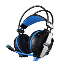 Noise cancelling big earcups gaming headset adjustable soft microphone gaming headphone for PS4 Xbox one Xbox 360