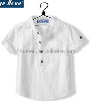 cotton short sleeve white color shirt for boy