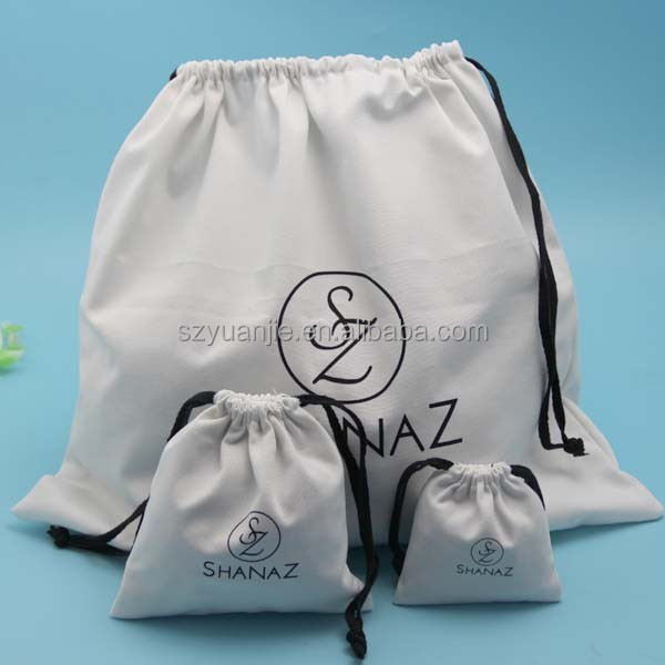 Bleached Organic Cotton Muslin Pouch Bags supplier
