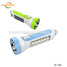 HF-301 Solar bicycle led rechargeable torch , flashlight rechargeable , emergency solar hand torch light