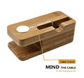 BRG NEW Bamboo Charger Mount Holder Stand For Apple Watch for iPhone wireless charging stand