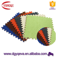 High-quality Solid-color Moistureproof Plush Foam Interlocking Floor Mats For Autumn