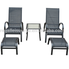 patio garden steel sling outdoor beach lounge chair set RLF-5047-12