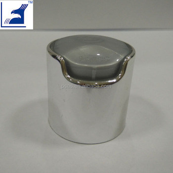 Shiny Gloss Silver Mental 24mm Disc Top Cap from Factory
