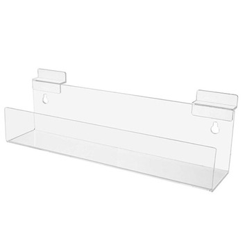 Slatwall holders Acrylic Floating Shelf Invisible Effect Display Rack Clear Retail Tray